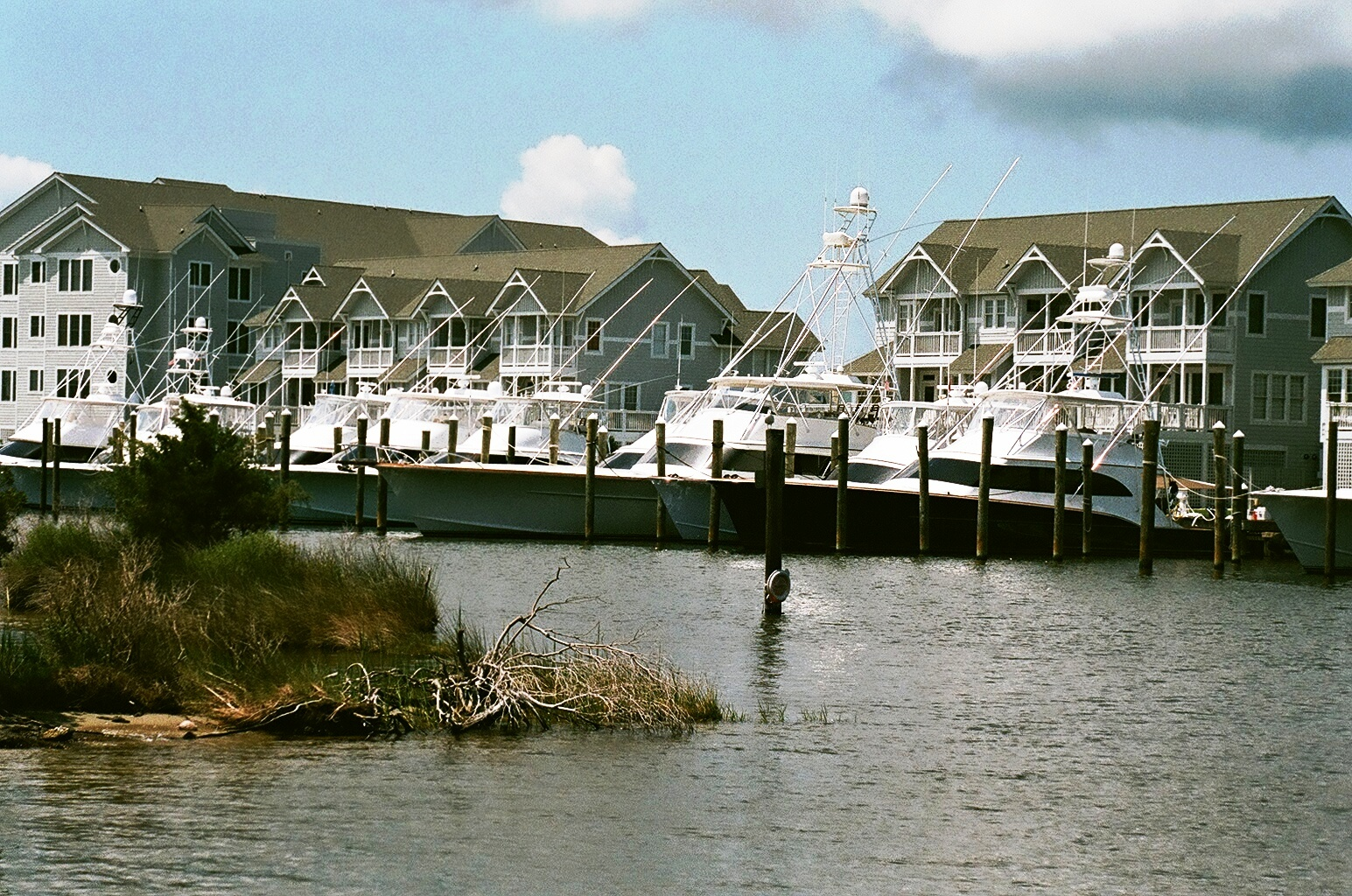 Aerial views of obx charter boat fishing marinas oregon for Oregon inlet fishing charters